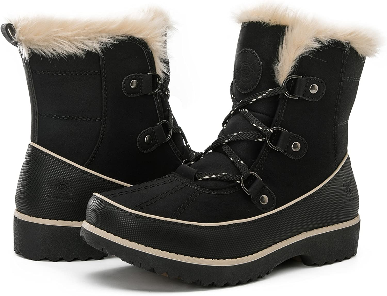 GLOBALWIN Women's Fur Trek Winter Boots