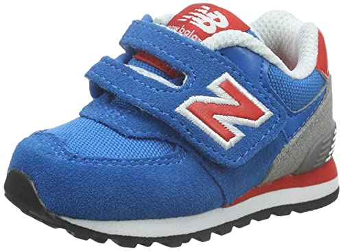 New Balance K_574V1, Botines de Senderismo Bebé-para Niños, (Blue/Grey/Orange), 17 EU: Amazon.es: Zapatos y complementos