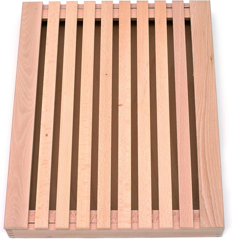 Compra TNNature - Tabla para cortar pan (madera de haya, 40 x 25 x ...