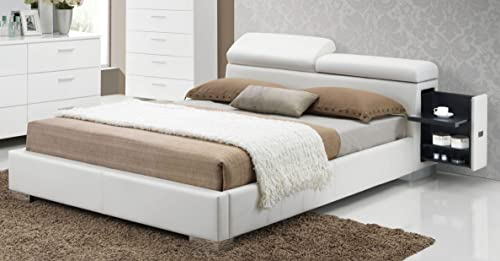Major-Q 9020414ck-1 Contemporary Modern White PU California King Size Bed