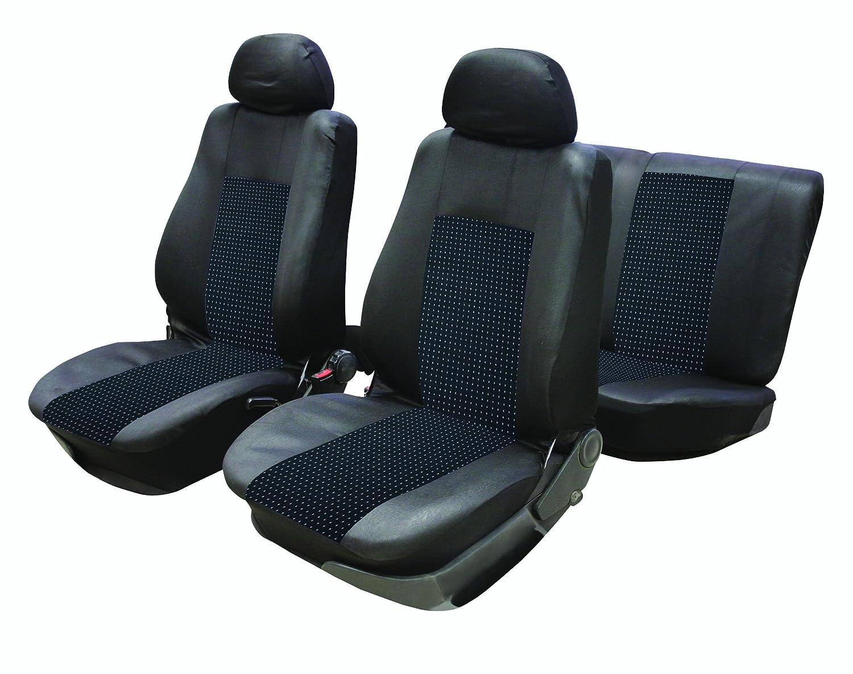 9 Pieces Grey Washable /& Airbag Compatible flexzon Universal Car Seat Light Cover Set