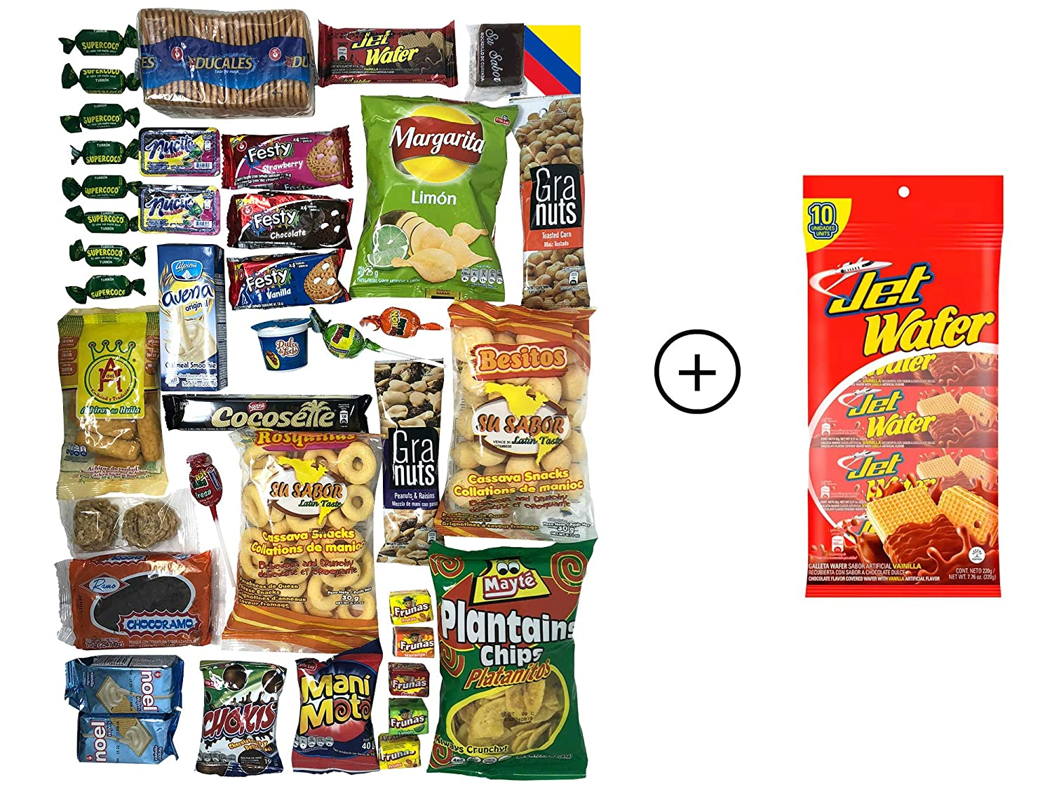 Colombian Snacks Sampler Variety Box - Cookies, Chips & Candies Assortment Pack - Delicious Gift Box - College Care Package (Mecato+Bandera): Amazon.com: ...