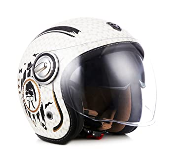 SOXON SP-888 SIR – Casco Jet estilo retro, certificado ECE, incluye