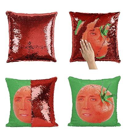 Nicolas Cage Tomato P112 Sequin Pillow, Almohada, Regalo ...
