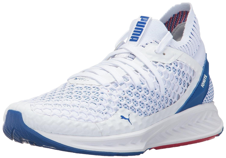 PUMA Men's Ignite Netfit Cross-Trainer-Shoes B01N2UF9AL 13 D(M) US Puma White-lapis Blue-toreador