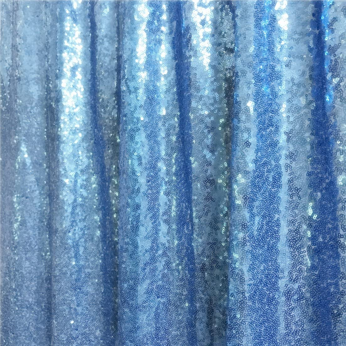 TRLYC Sequin Backdrop Window Curtain for Wedding Black 8FTX8FT High Weddings Party Decoration