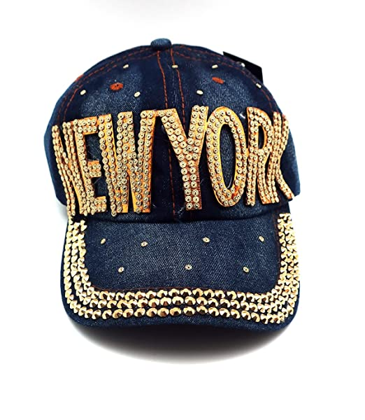 566ef26e0878ee Image Unavailable. Image not available for. Color: Nollia New York Bling  Baseball Cap Hat Embellished ...
