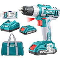 TOTAL TOOLS Lithium-Ion cordless drill 20V Packed by canvas bag - TDLI2002