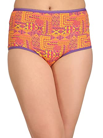 d61e26ca9864 Clovia Women's Cotton High Waist Printed Hipster Panty: Amazon.in: Clothing  & Accessories