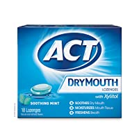 ACT Total Care, Dry Mouth Lozenges, 18 Count (Pack of 6), Soothing Mint Flavored...