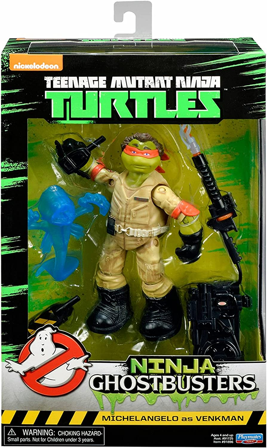 Playmates Toys Ninja Ghostbusters Teenage Mutant Ninja Turtles TMNT Michelangelo as Venkman