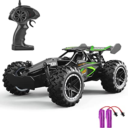 Electrionic RC Car Toys Black Vehicle Remote Control Off Road Baby Boy Xmas Gift