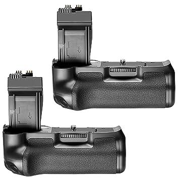 Neewer 2 Paquetes BG-E8 Reemplazo Empuñadura de Batería Kit para ...