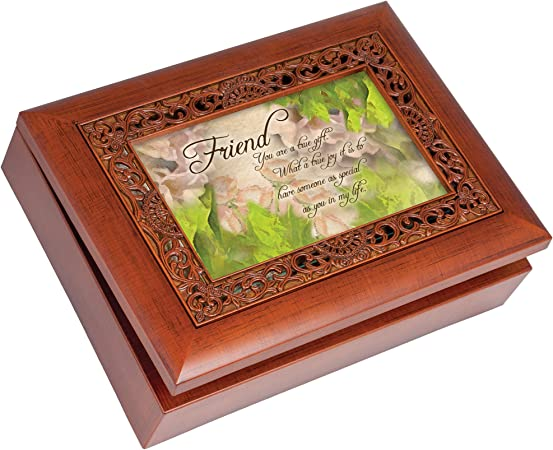 Cottage Garden caja de música – Friend reproduce that s What Friends Are para con acabado de madera: Amazon.es: Hogar
