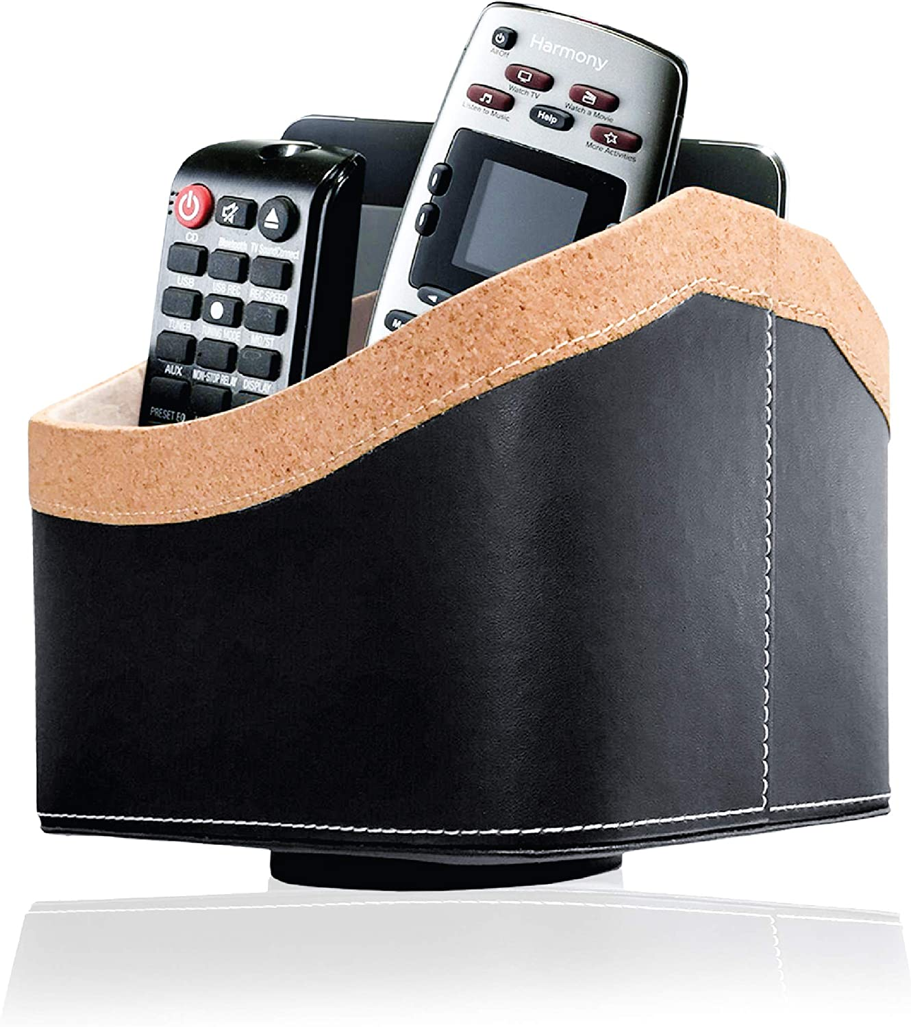 TV Remote Control Phone Holder Household 5 Compartments Rack Storage Caddy