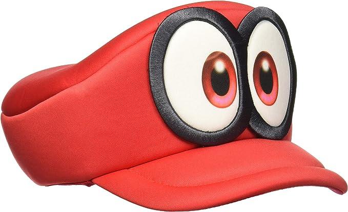Amazon Com Nintendo Super Mario Odyssey Cappy Hat Cosplay Accessory Red Bioworld Clothing
