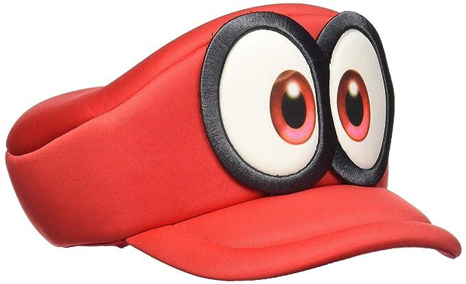 f2c32d28de8070 bioworld Nintendo Super Mario Odyssey Cappy Hat Cosplay Accessory Red