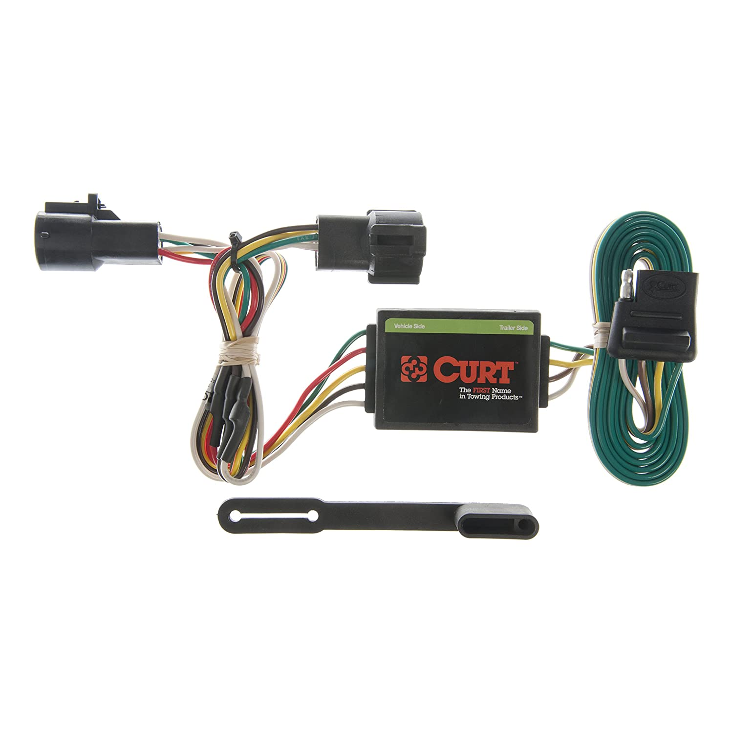 curt 55325 vehicle side custom 4 pin trailer wiring harness for select ford ranger, mazda b2300, b3000, b4000 Trailer Connector 2006 Ford Ranger
