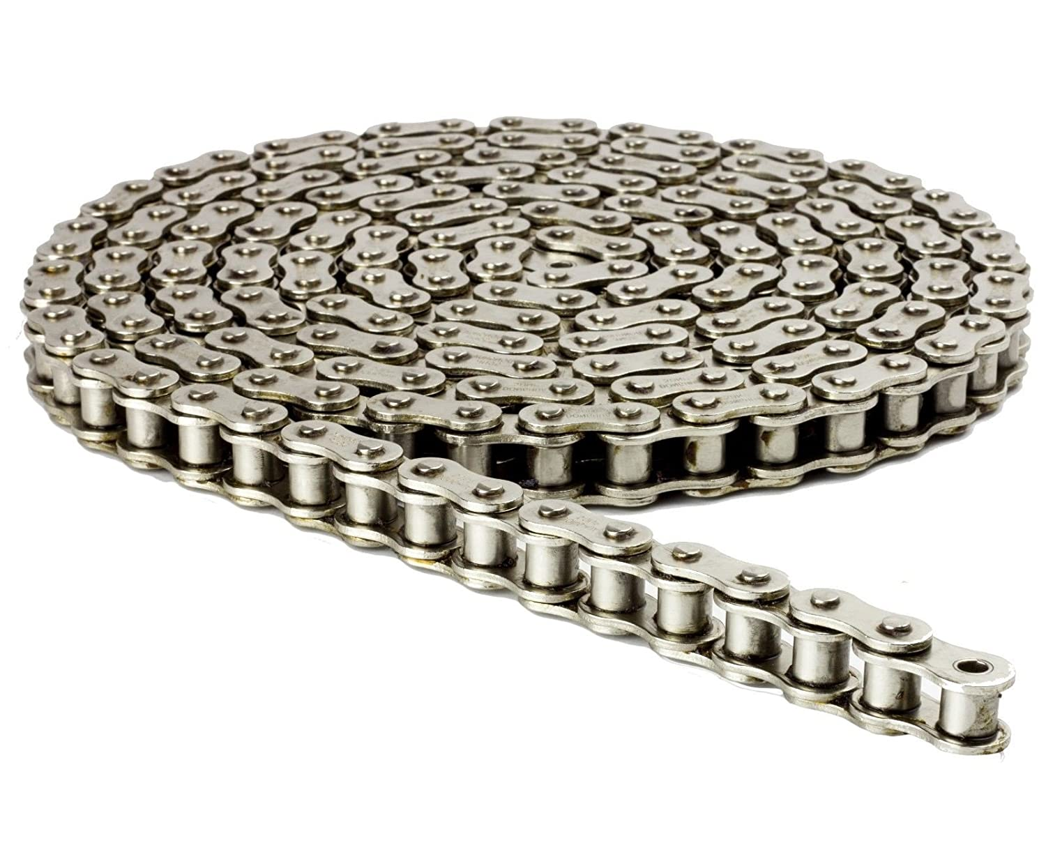 415H Nickel Plated Heavy Duty Chain 110 Links with 1 Connecting Link
