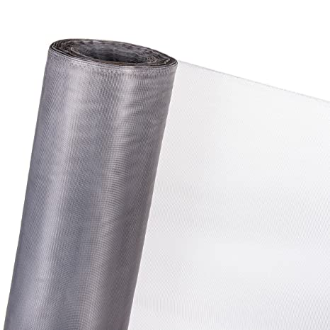 creadetex Toile Tissus MOUSTIQUAIRE Lit fenetres Blanc Polyester Souple au Metre Grande Largeur 300 cm