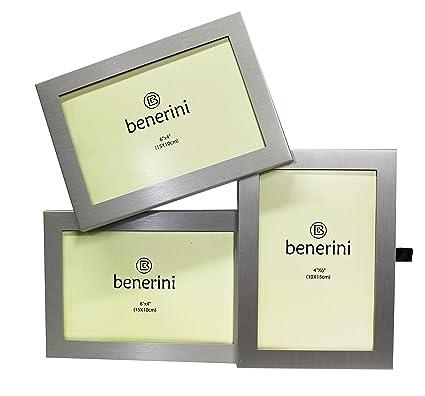 Amazon.com - benerini 3 Picture Brushed Aluminum Satin Silver Color ...