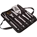 Home-Complete BBQ Grill Tool Set- Stainless Steel Barbecue Grilling Accessories with 7 Utensils and Carrying Case…