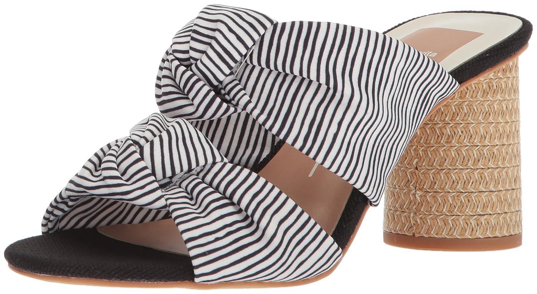 Dolce Vita Women's Jene Slide Sandal B077QN3M4P 9.5 B(M) US White Stripe Fabric