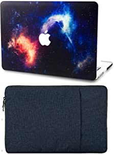 "KECC Laptop Case for MacBook Pro 13"" (2020/2019/2018/2017/2016) with Sleeve Plastic Hard Shell A2289/A2251/A2159/A1989/A1706/A1708 Touch Bar 2 in 1 Bundle (Nebula)"