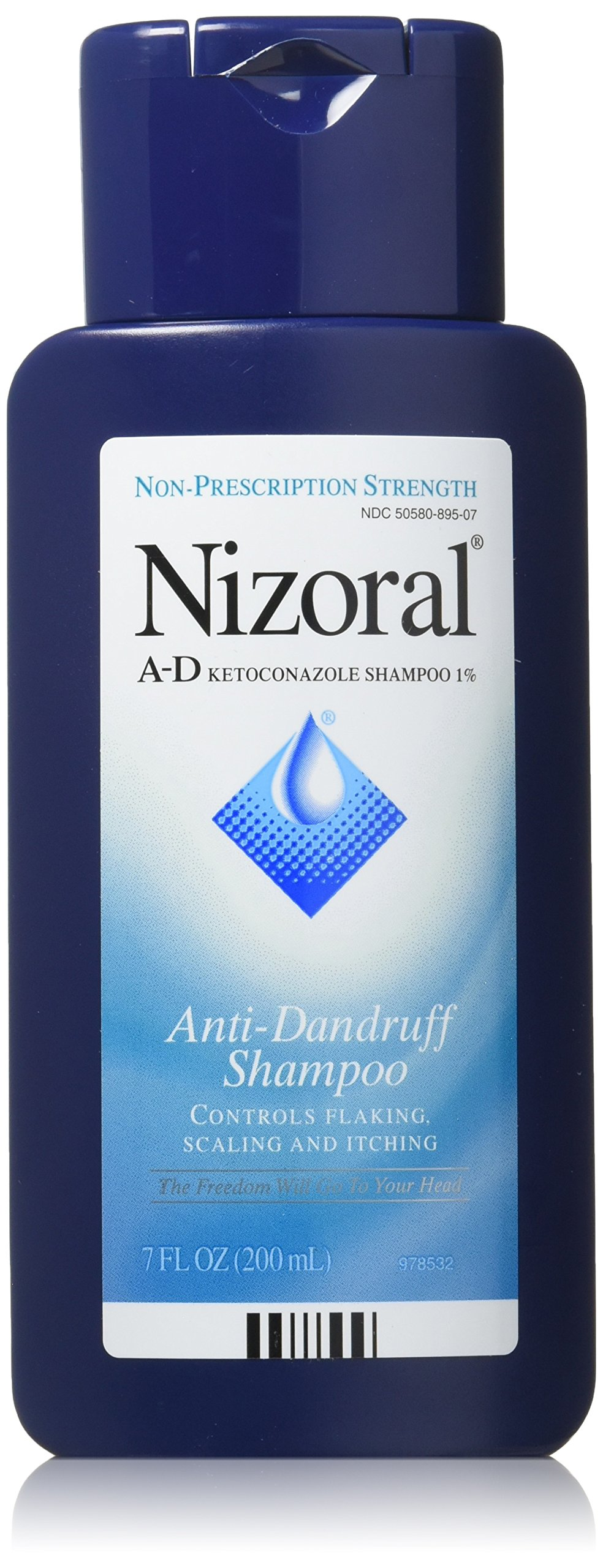 Nizoral A-D Anti-Dandruff Shampoo, 7 Ounce (Pack of 2)