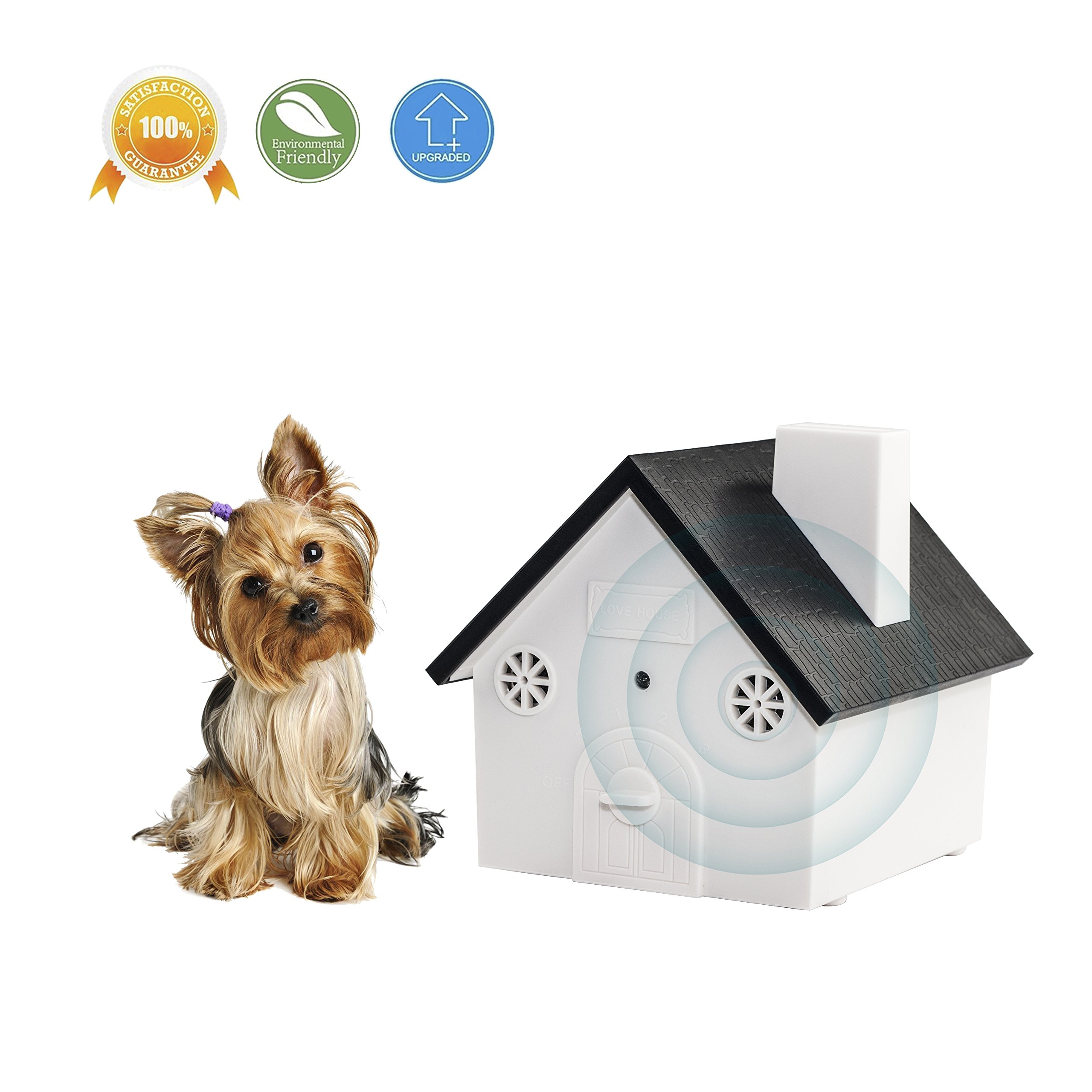 LT Ultrasonic Dog Bark Control Deterrents,Anti Barking Control Stop Barking,Outdoor Birdhouse up to 50 Feet Range with Easy Hanging Hanging or Mounting,Safe for Pets and Human[2018 UPGRADED]