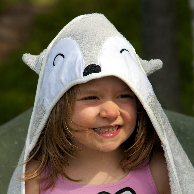 Bio Bambus Kapuzen Baby Handtuch 90x90cm und Waschhandschuh
