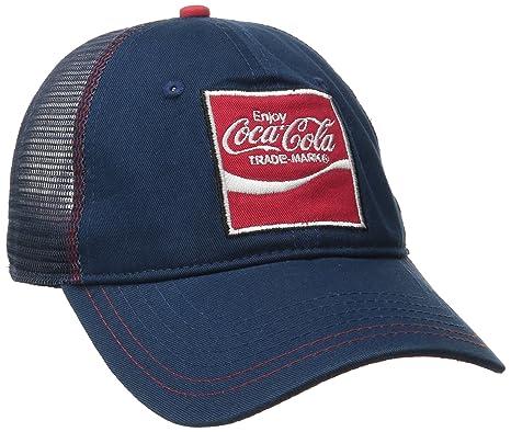 17bb887210f Coca-Cola Men s Heavy Washed Twill Mesh Back Trucker Hat