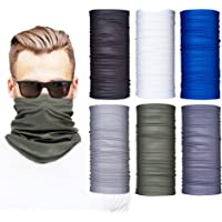 Neck Gaiters for Men and Women, 6-Piece Gaiter Masks, Breathable Microfiber UV Face Shields, Protection Hunting, Fishing…