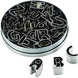Cake Boss 26 件装饰工具软糖刀套装 亮灰色 26-Piece Alphabet 50792
