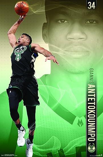 Trends International Mlb Milwaukee Bucks Giannis Antetokounmpo Wall Poster 22 375 X 34 Premium Unframed