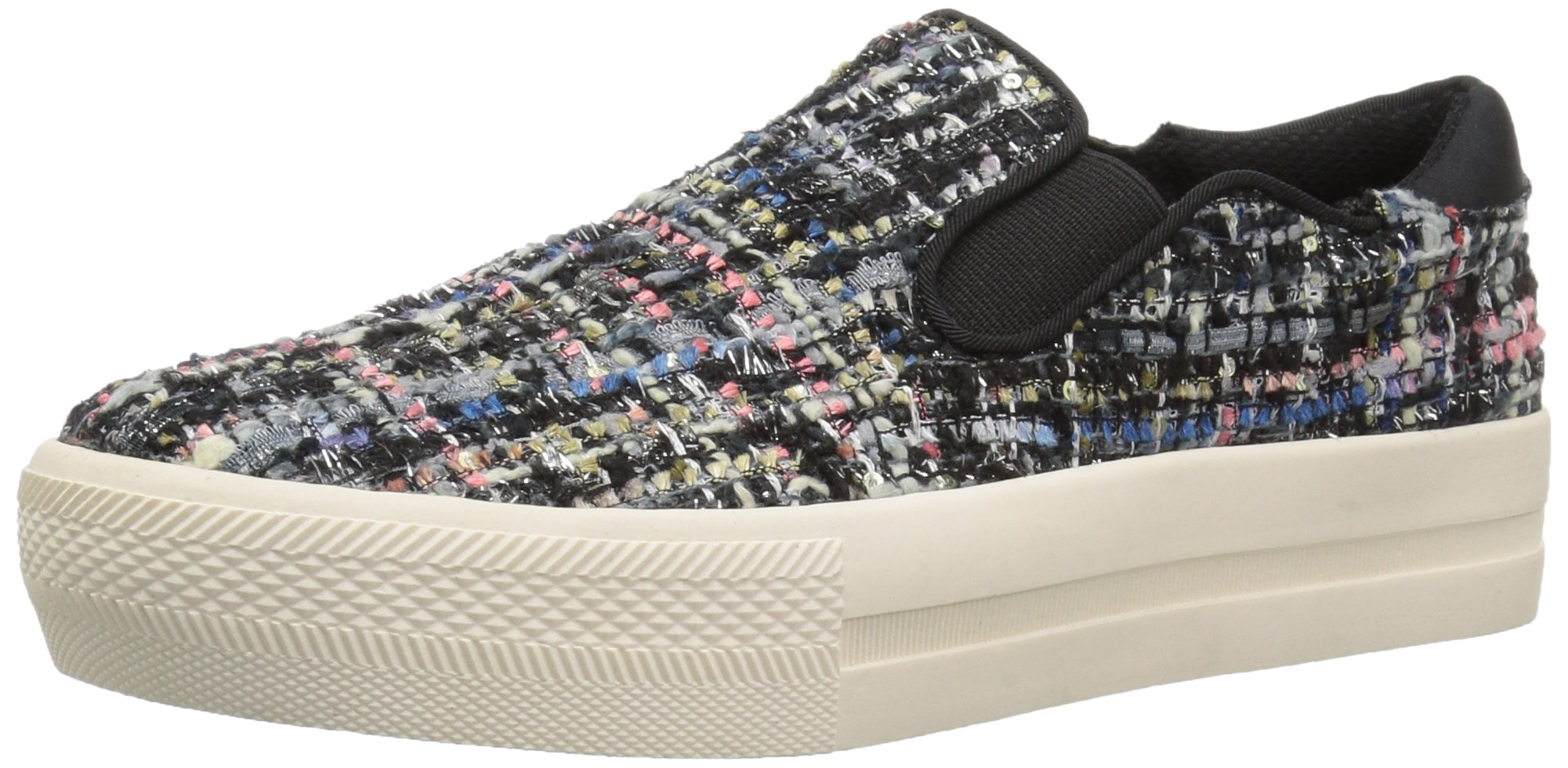 The Fix Women's Jaylene Slip-on Fashion Sneaker, Black/Multi Tweed, 9.5 B US