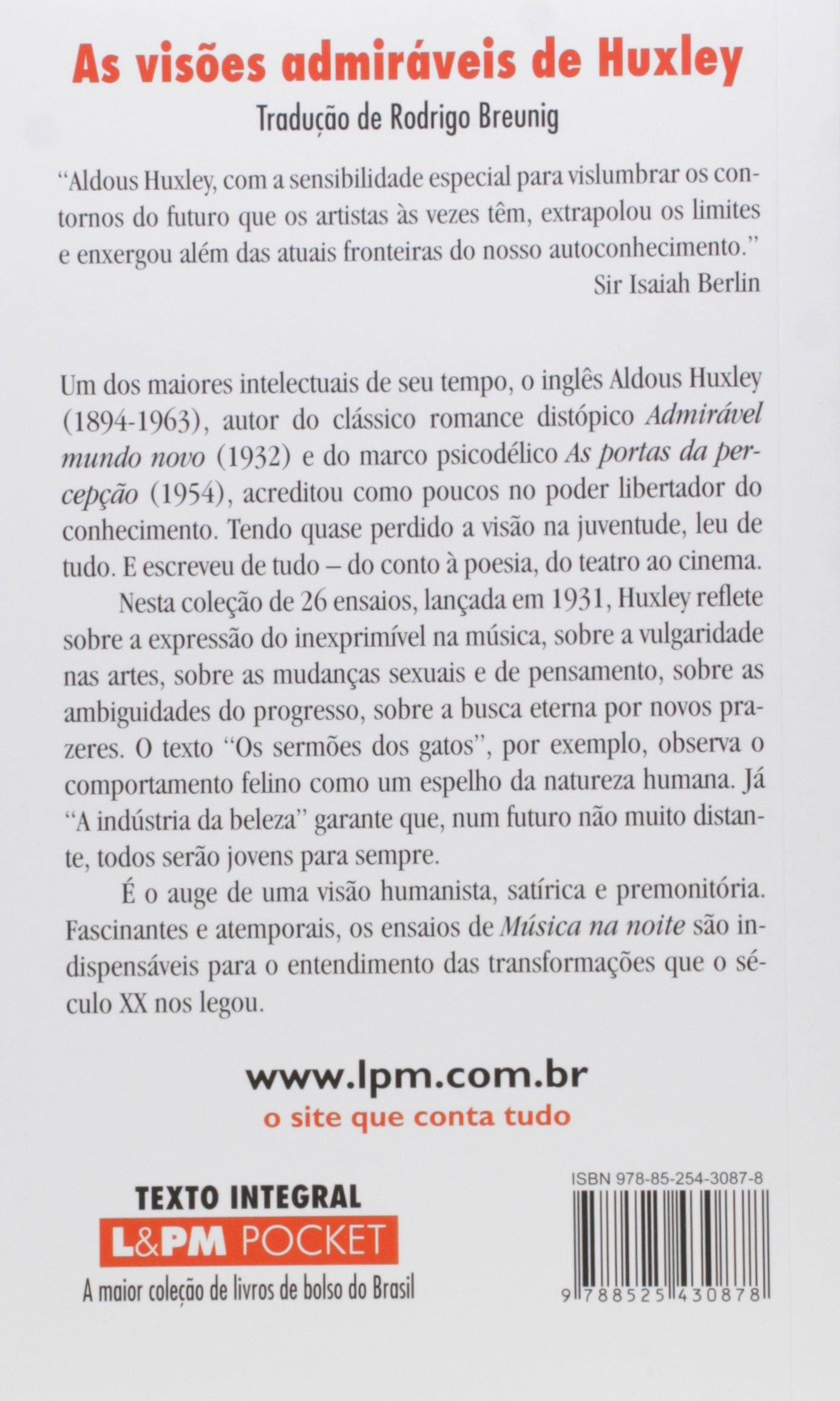 Musica na Noite e Outros Ensaios - Coleção L&PM Pocket (Em Portuguese do Brasil): Aldous Huxley: 9788525430878: Amazon.com: Books
