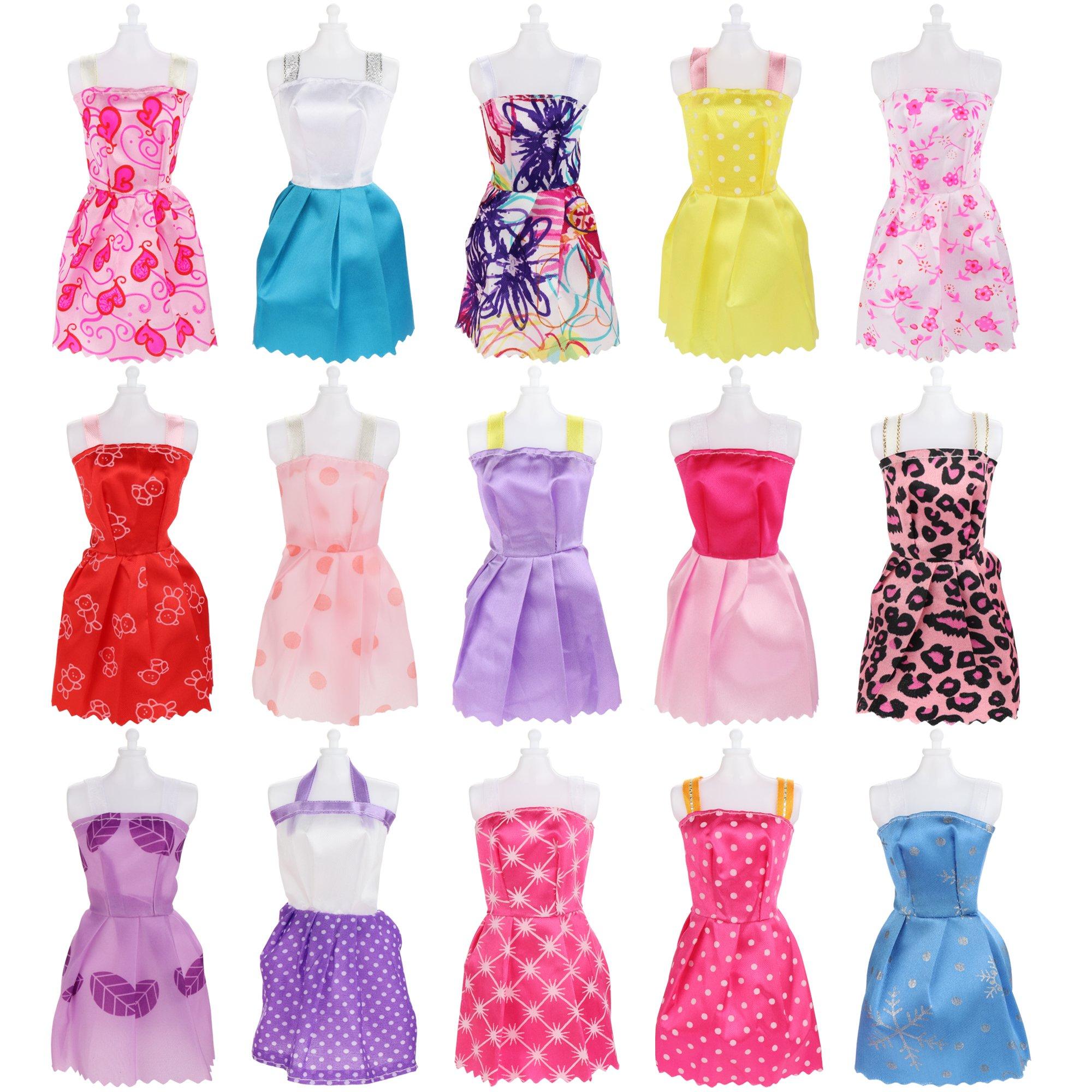Sotogo 106 Pcs Barbie Doll Clothes Set Include 15 Pack Barbie