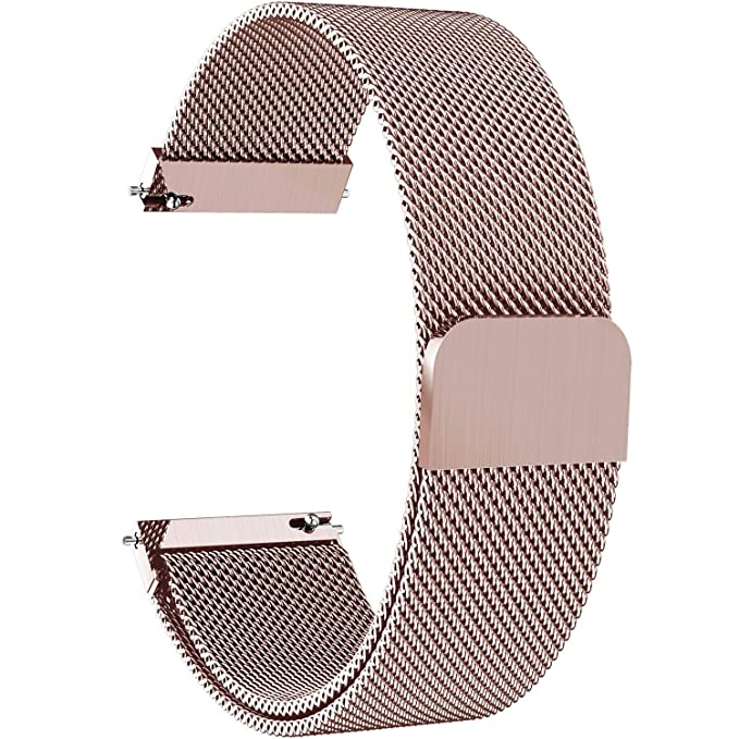 150 opinioni per Fullmosa 6 Colori Cinturino in Acciaio Milanese con Sgancio Rapido per Orologio