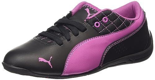 Puma Drift Cat 6 L Jr - Zapatillas Unisex Niños, Color Negro (Black-Meadow Mauve 10), Talla 38.5: Amazon.es: Zapatos y complementos