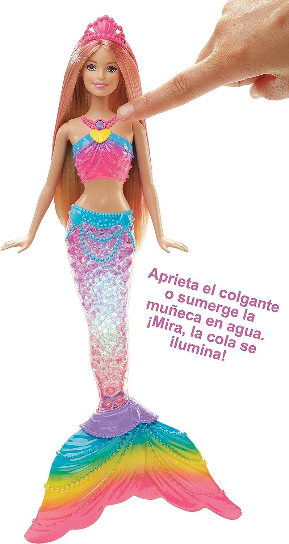 Amazon.es: Barbie Dreamtopia, muñeca Sirena Luces de Arcoíris ...