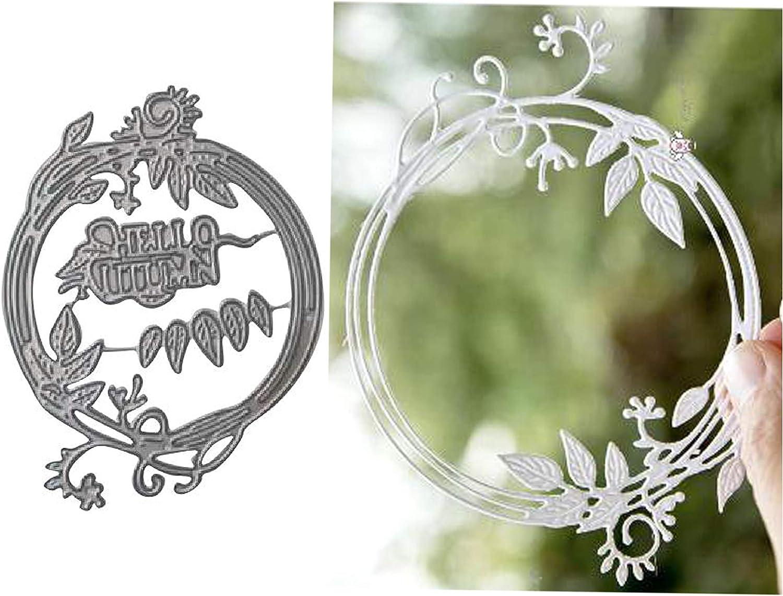 Album Frame Leaves Alphabet Metal Cutting Dies Scrapbooking DIY Decoration Craft