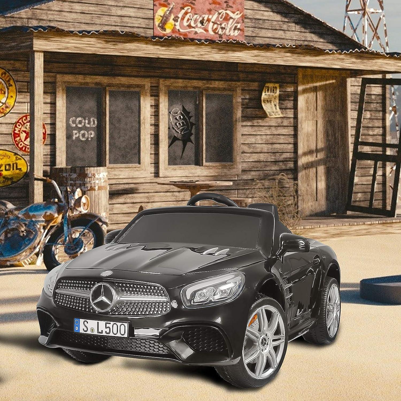 SUNCOO 12 V Mercedes-Benz SL500 Enfants Autoris/és /à Conduire des Voitures Electriques pour Enfants avec T/él/écommande Noir