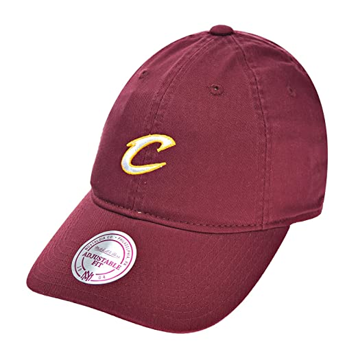 980b071e9f1 Cleveland Cavaliers NBA Mitchell   Ness Cotton Adjustable Backstrap Dad Hat