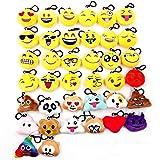 JZK 38pcs Mini Juguete de Peluche, Emoji Llavero emoticonos Llavero emoción para niños & Adulto Fiesta de cumpleaños favores Rellenos Bolso Partido Decoraciones para Fiestas