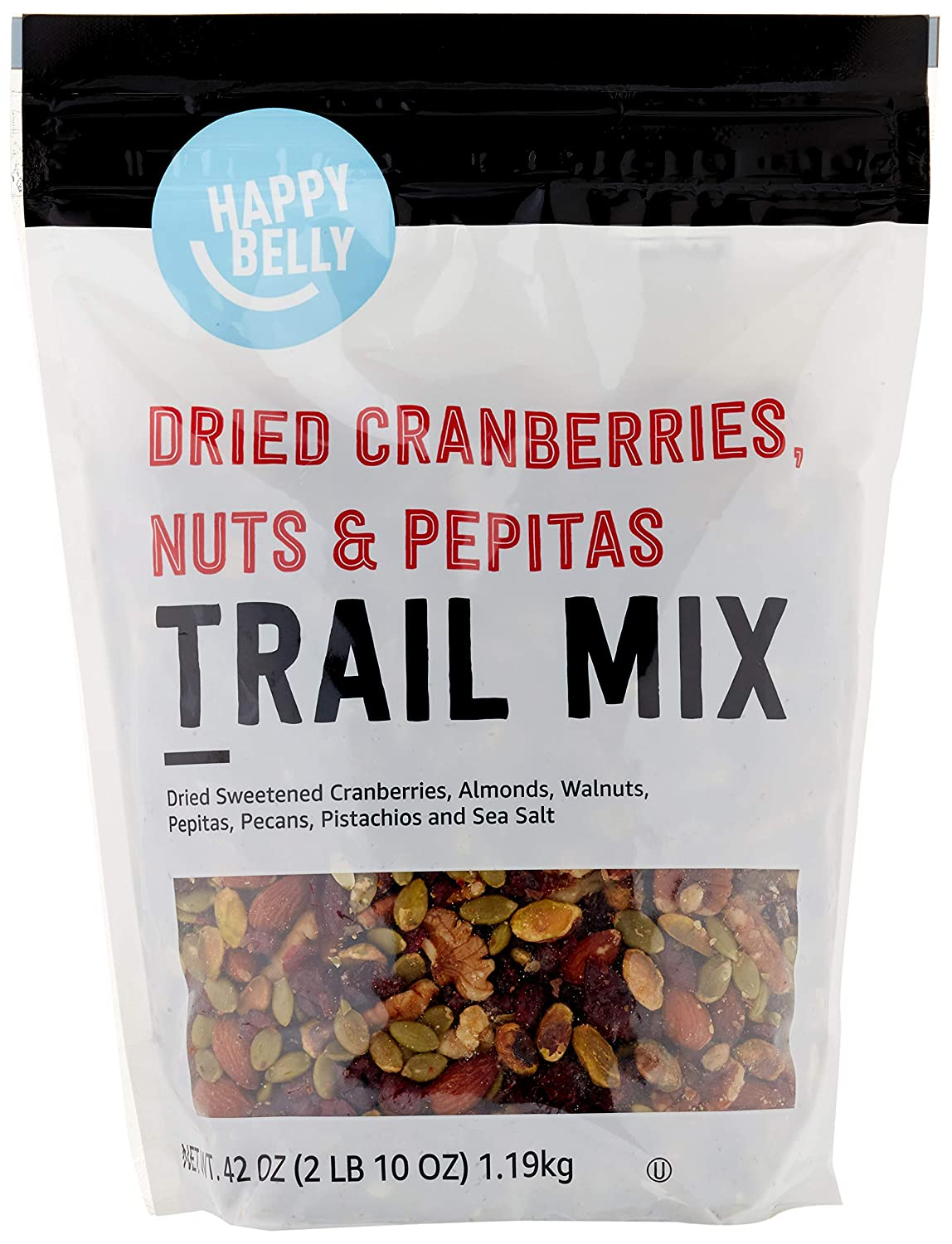 Happy Belly Trail Mix. Do visit these 23 Smart Quarantine Pantry Supplies for Social Isolation I Ordered. #quarantinesupplies #pantryitems #nonperishables