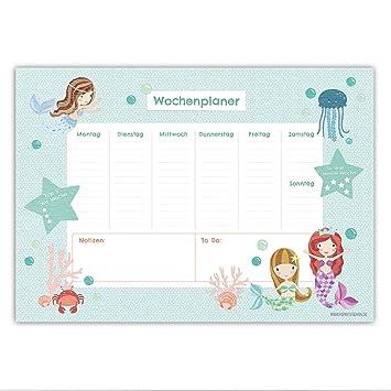 Schreibtischunterlage Meerjungfrau für Kinder - DIN A2 (59,4 x 42cm ...