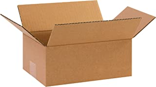 "product image for Partners Brand P1074 Corrugated Boxes, 10""L x 7""W x 4""H, Kraft (Pack of 25)"