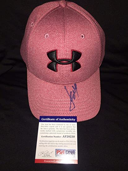 785b418e3d3 Image Unavailable. Image not available for. Color  Jordan Spieth Signed  Official Under Armour Hat Masters Champ - PSA DNA Certified - Autographed