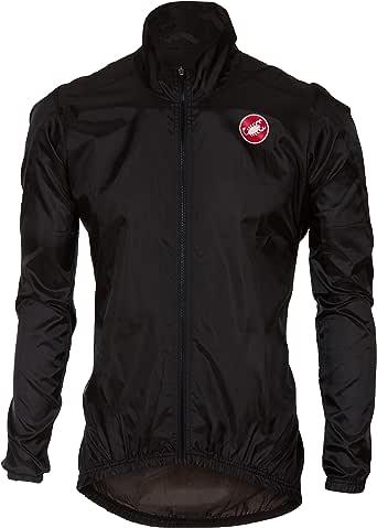 Castelli SQUADRA ER Jacket Lightweight Windproof Cycling Wind//Rain Shell WHITE